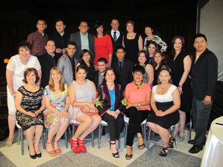 En la Inauguración, Maestros, Administración y Patronato de la Casa de la Cultura de Reynosa