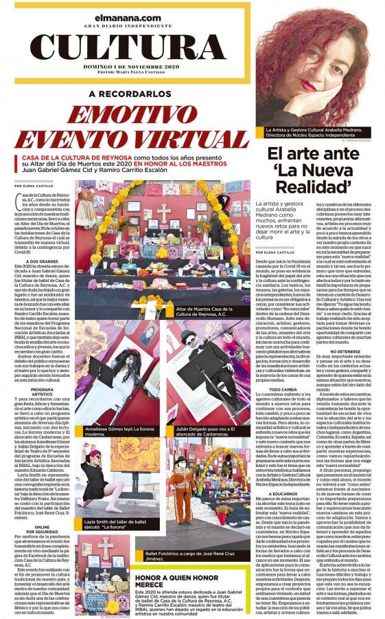 El mañana – Altar de Muertos Casa de la Cultura de Reynosa, A.C. 2020